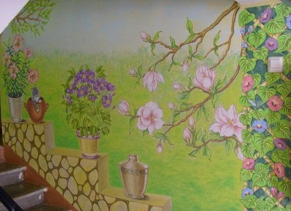 Как разрисовать стены в подъезде своими руками
