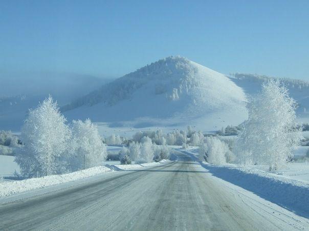 Картинка с настоящей зимой