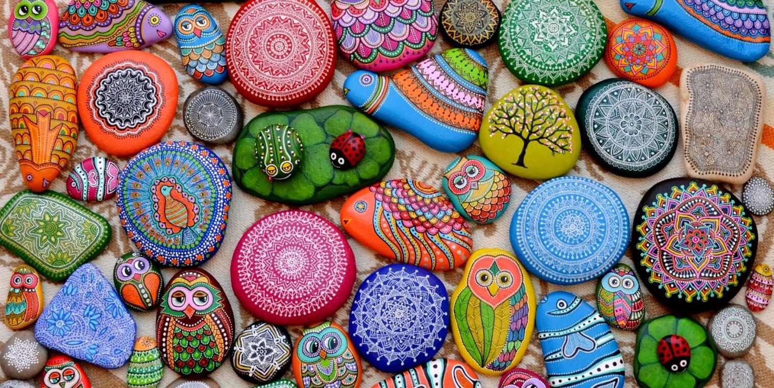 Рисовать на камнях акриловыми