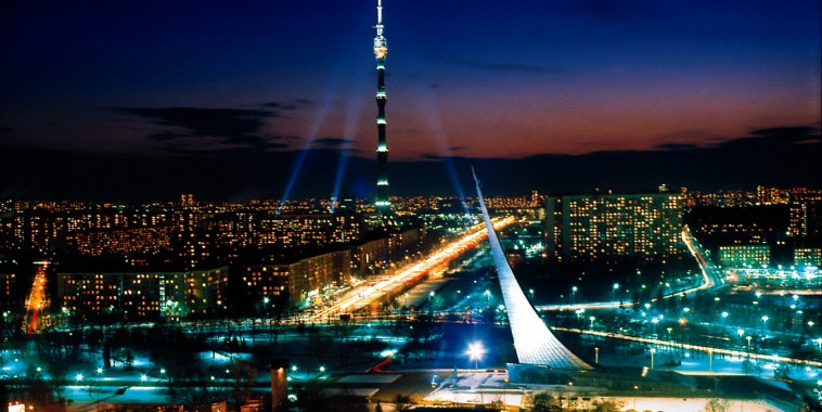 останкинская башня фото ночью