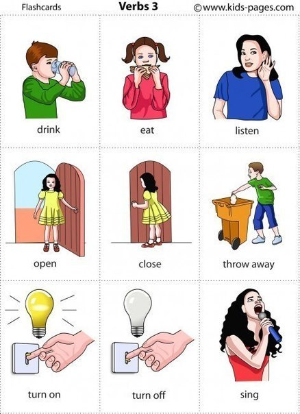 глаголы для детей в картинках