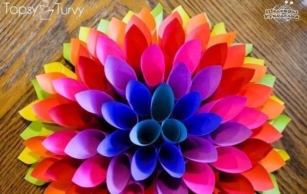 Поделки из бумаги для цветов 74