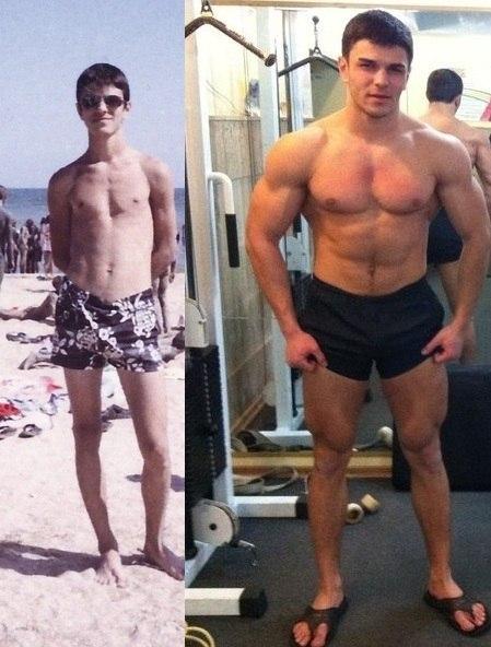 до протеина и после фото