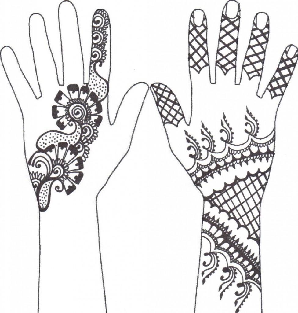 Как сделать трафарет своими руками для мехенди